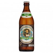 Пиво Augustiner Lagerbier Hell (Августинер Лагербир Хелл) светлое фильтрованное 0,5 л х 20 ст.бут.