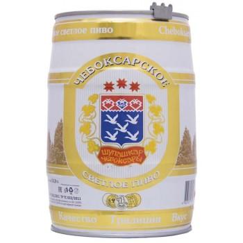 Пиво Чебоксарское светлое пастериз. 5,1 % / БОЧКА / 5л