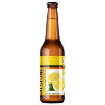 Пивной напиток Букет Чувашии Pilstone ЛИМОН безалк.0,45 л х 20 бут.
