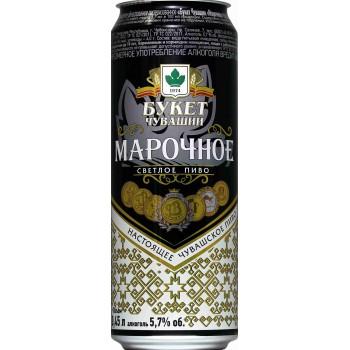 Пиво Букет Чувашии Марочное 0,45 л х 24 ж/б