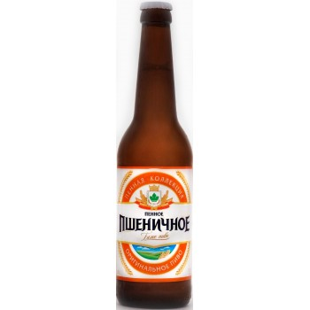 Пиво Букет Чувашии Пенное Пшеничное светлое нефильтрованное 0,45 л х 20 бут.