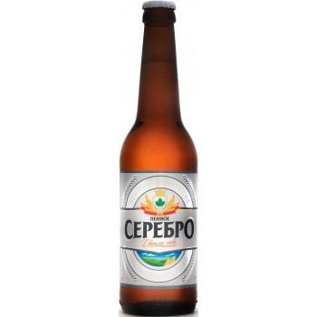 Пиво Букет Чувашии Пенное Серебро светлое 0,45 л х 20 бут.