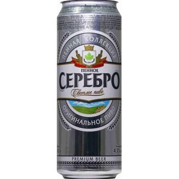 Пиво Букет Чувашии Пенное Серебро светлое 0,45 л х 24 ж/б