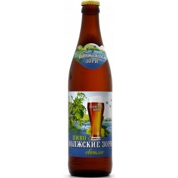 Пиво Букет Чувашии Волжские Зори светлое 0,45 л х 20 бут.