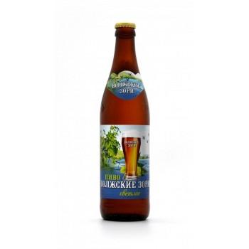Пиво Букет Чувашии Волжские зори светлое 0,5 л x 20 ст.бут.