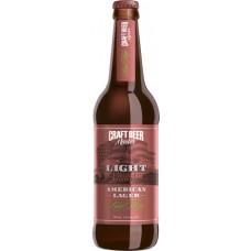 Пиво крафтовое BIG HOP LIGHT American Lager Американский лагер, фильтрованное, 3,3 % 0,5л.х20 ст.бут