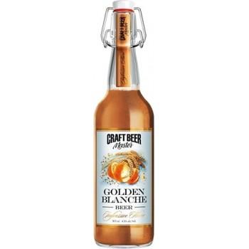 Пиво Craft Beer Master GOLDEN BLANCHE (Крафт Бир Мастер Золотой Бланш) нефильтрованное 0.5л х 20 ст.бут. алк. 4.5%