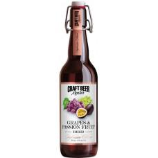 Пивной напиток Craft Beer Master GRAPES & PASSION  FRUIT (Крафт Бир Мастер Виноград и Маракуйя) нефильтрованное 0.5л х 20 ст.бут. алк. 4.5%
