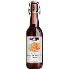 Пиво Craft Beer Master GRAPEFRUIT (Крафт Бир Мастер Грейпфрут) нефильтрованное 0.5л х 20 ст.бут. алк. 4.5%