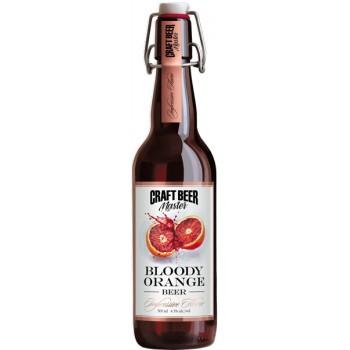 Пиво Craft Beer Master BLOODY ORANGE (Крафт Бир Мастер Кровавый апельсин) нефильтрованное 0.5л х 20 ст.бут. алк. 4.5%