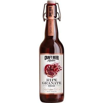 Пиво Craft Beer Master RIPE GRANATE (Крафт Бир Мастер Спелый гранат) нефильтрованное 0.5л х 20 ст.бут. алк. 4.5%