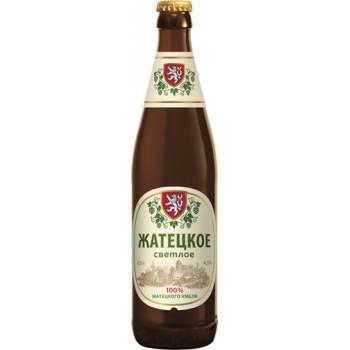 Пиво Жатецкое светлое 0.5л. ст.бут. алк. 4.5%