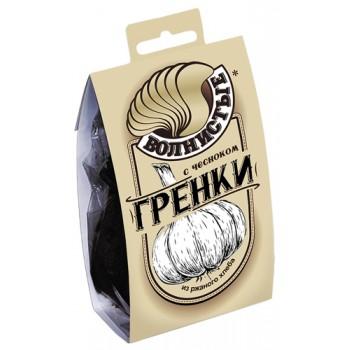 Гренки Волнистые с Чесноком 0,075кг (ПЭТ/Обечайка)