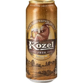Пиво светлое фильтрованное пастеризованное Козел Премиум Лагер 4,6% 0,5x24 бан./Velkopopovicky Kozel Premium