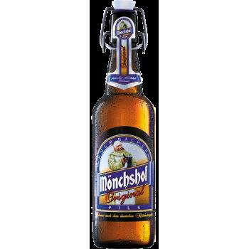 Пиво Мюнхоф ОРИГИНАЛ светлое 4.9 % 0,5 x 20 ст.бут/MONCHSHOF ORIGINAL