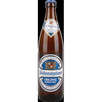 Пиво ВАЙНШТЕФАН ОРИГИНАЛ светлое 0,5 л. х 20 ст.бут. 5,1 %/ Weihenstephan ORIGINAL