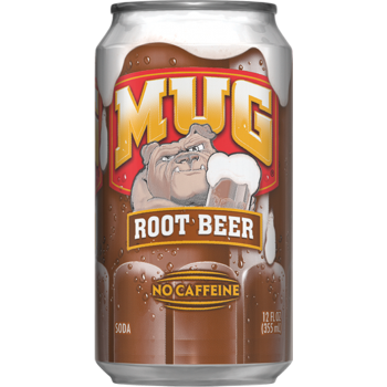 Напиток б/алк МУГ Рут Бир 0,355 х 12, ж/б/ MUG ROOT BEER (США)