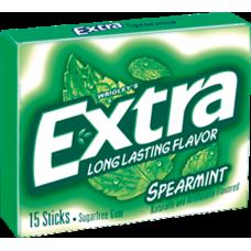 Жев. резинка Wrigley`s EXTRA Spearmint (Экстра Мята) 1 x 10 шт. (блок) / США