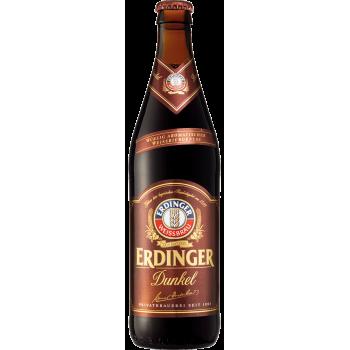 Пиво Эрдингер Тёмное (нефильтр.) 0.5 x 12 ст.бут 5.3% /Erdinger, Германия.