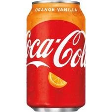 Кока Кола Оранж Ванилла 0,355 х 12, ж/б, (США)/ COCA-COLA Orange VANILLA