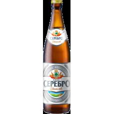 Пиво Пенное Серебро светлое 4,7 % 0,5 л. x 20 ст.бут,