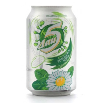 Лимонад напиток солодовый РОМАШКА-МЯТА 0,33 x 12 ж/б (Букет Чувашии)
