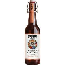 Пиво Craft Beer Master American Pale Ale (Крафт Бир Мастер Американский Светлый Эль) нефильтрованное 0.5л. ст.бут. алк. 4.5% / APA