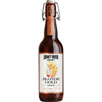 Пиво Craft Beer Master Blonde Gold (Крафт Бир Мастер Золотая Блондинка) светлое нефильтрованное 0.5л. ст.бут. алк. 4.5%