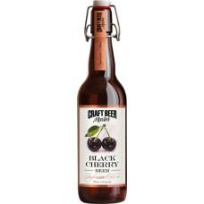 Пиво Craft Beer Master Black Cherry (Крафт Бир Мастер Темная Вишня) темное нефильтрованное 0.5л. ст.бут. алк. 4.1%