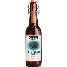 Напиток пивной крафтовое пиво Шоколадная ночь темный пастеризованный, нефильтрованный освеиленный 4,1% 0,5 л. ст.бут