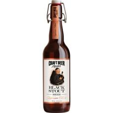 Напиток пивной крафтовое пиво Темный Стаут пастеризованный, нефильтрованный освеиленный 4,1% 0,5 ст. бут.