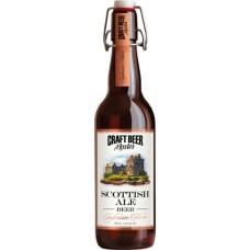 Напиток пивной крафтовое пиво Шотландский эль пастеризованный, нефильтрованный осветленный 4,1% 0,5 л. ст.бут