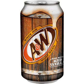 Напиток б/алк A&W Root Beer 0,355 х 12, ж/б/ A&W Root Beer (США)