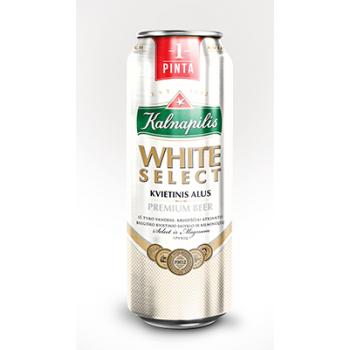 Пиво KALNAPILS WHITE SELECT Н/Ф алк.5,0% 0,568 x 24 БАНКА /Литва