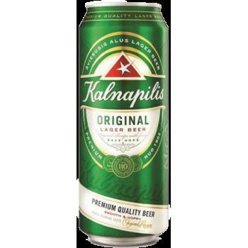 Пиво KALNAPILS ORIGINAL светлое алк.5,0% 0,568 x 24 БАНКА /Литва