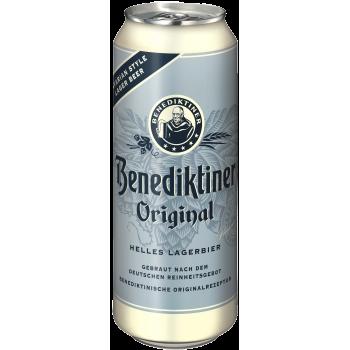 Пиво Бенедиктинер ХЕЛЬ алк.5,0 % 0,5 л. х 24 БАНКА/ Benidiktiner Original, Германия.