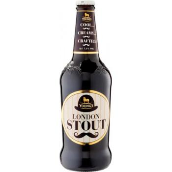 Пиво Янгс Лондон Стаут темное фильтр. 0,5 л. х 12 ст.бут. 5,2 % / YOUNG`S LONDON STOUT