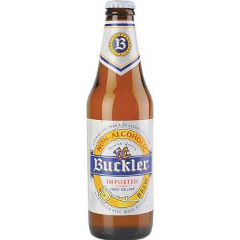 Пиво Баклер светлое фильтр. пастериз. б/алк. 0,355 л. х 24 ст.бут. / Buckler / Нидерланды.