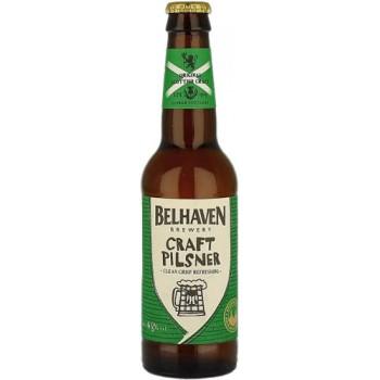 Пиво Белхеван Крафт Пилсенер светлое фильтров. пастериз. 0,33 л. х 12ст.бут. 4,8 % / Belhaven Craft Pilsner