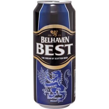Пиво Белхеван Бест светлое фильтров. пастериз. 0,44 л. х 24 (БАНКА) 3,2 % / Belhaven Best