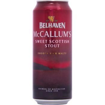 Пиво Белхеван МакКаллумс Стаут темное фильтров. пастериз. 0,44 л. х 24 (БАНКА) 4,1 % / Belhaven McCallum`s Stout