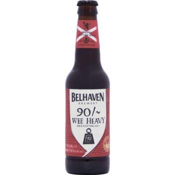 Пиво Белхеван Вии Хэви 90 Шиллингов темное фильтров. пастериз. 0,33 л. х 12ст.бут. 7,4 % / Belhaven Wee Heavy 90 Shilling
