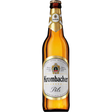 Пиво Кромбахер Пильс светлое 4,8% 0,5 x 12 бут./Krombacher Pils, Германия.