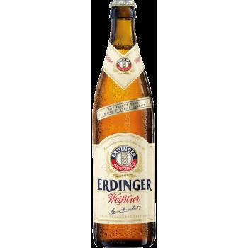 Пиво Эрдингер Вайс светлое (нефильтр.) 0.5 x 12 ст.бут5,3% /Erdinger, Германия.