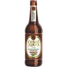 """Пиво светлое ,пастеризованное,фильтрованное CESKE ZLATO SVETLE """"Чешске злато"""" 4,0% 0,5 л. ст.бут"""