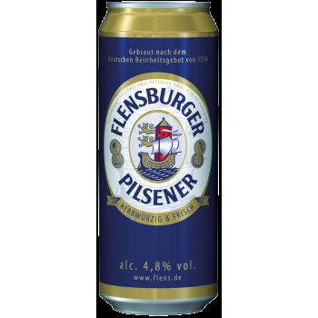 Пиво Фленсбургер Пилснер светлое 4,8 % 0,5 x 24 БАНКА!!! / Flensburger Pilsener