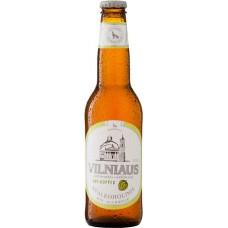Пиво светлое безалкогольное нефильтрованное Vilniaus Apyniuotas nealkoholinis (Вильнюс безалкогольное двойной хмель) 0,33 x 8 cт. бут /Литваа