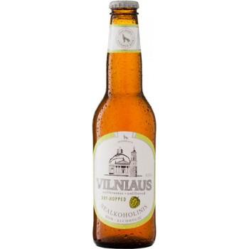 Пиво  Vilniaus Apyniuotas nealkoholinis (Вильнюс безалкогольное двойной хмель) светлое безалкогольное нефильтрованное 0,33 x 8 cт. бут /Литваа