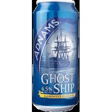Пиво Аднамс Хост Шип светлое пастериз. фильтр. 4,5% /КРАФТ/ 0,44 x 24 БАНКА / Adnams Ghost Ship