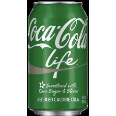 Кока Кола ЛАЙФ 0,355 х 12, ж/б, Coca Cola LIFE (США)